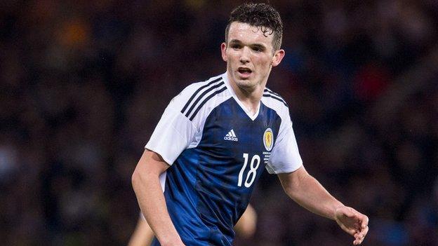 John McGinn made his Scotland debut against Denmark in March