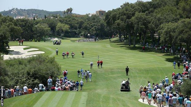 A general view of the 4th hole at Valderrama