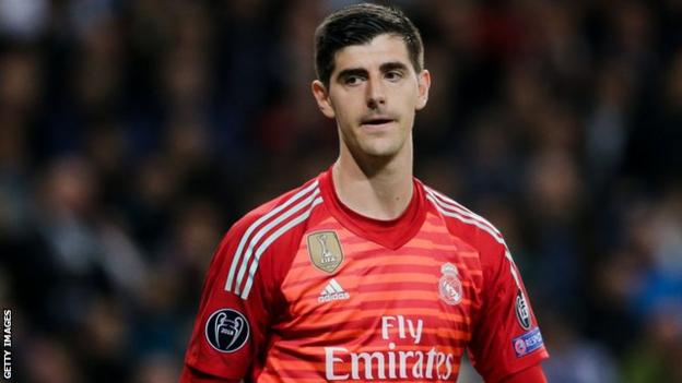 Real Madrid goalkeeper Thibaut Courtois