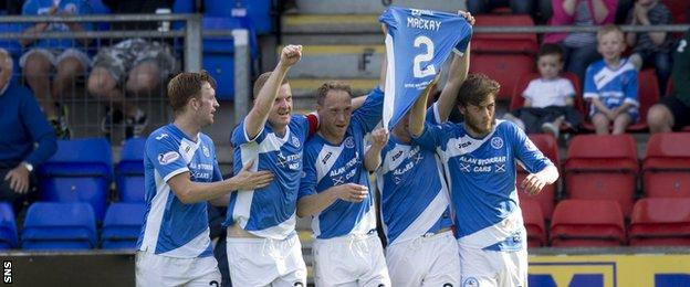 St Johnstone players paid tribute to retiring captain Dave Mackay