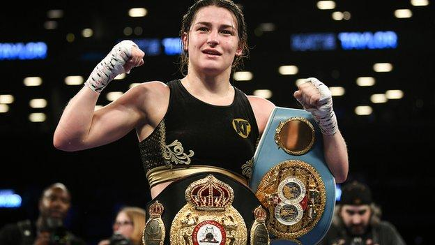 Katie Taylor is the WBC, WBA and IBF World Lightweight champion