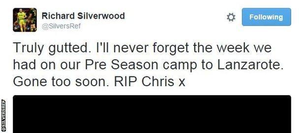 Richard Silverwood tweet