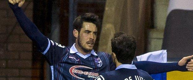 Ross County's Brian Graham (left) celebrates
