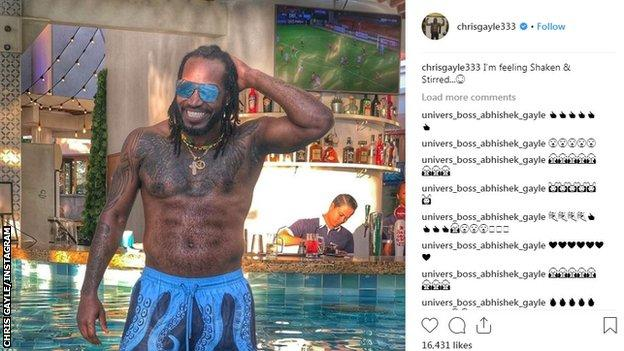 Shortly after announcing his retirement from one-day internationals, Gayle posted on Instagram