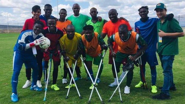 Nigeria's amputee football team in Mexico