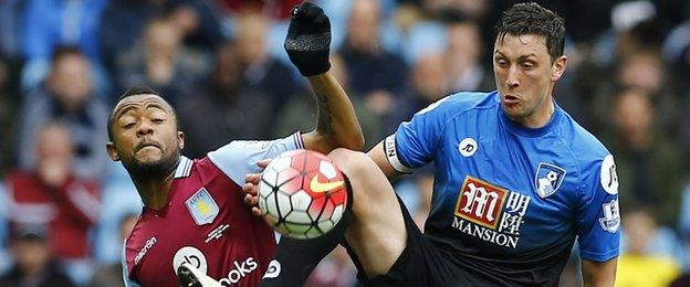 Tommy Elphick was part of the Bouremouth team that won 2-1 at Villa Park in April
