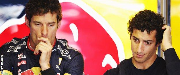 Mark Webber and Daniel Ricciardo