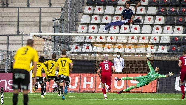 Leo Bengtsson's penalty increased Aberdeen's nerves