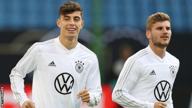 Kai Havertz (left) and Timo Werner