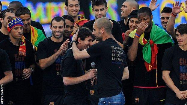 Pep Guardiola, Şampiyonlar Ligi'ni Barcelona menajeri olarak iki kez kazandı