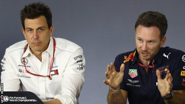 Mercedes boss Toto Wolff and Red Bull counterpart Christian Horner