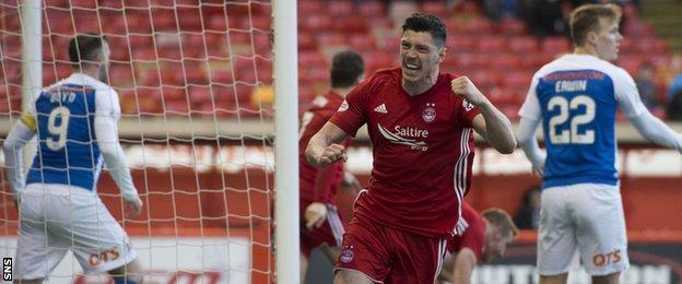 Aberdeen's Scott McKenna scores against Kilmarnock