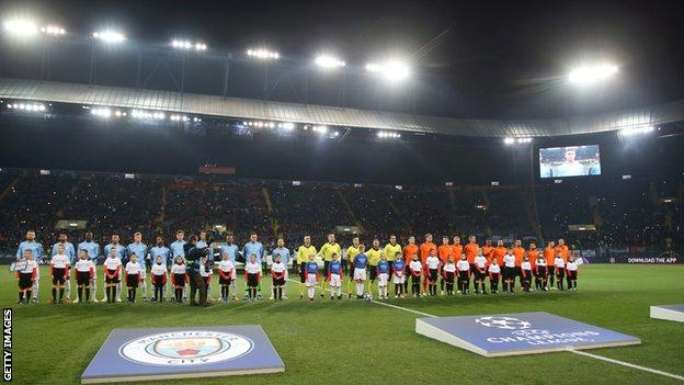 Shakhtar Donetsk host Manchester City in the Champions League in Kharkiv in October 2018