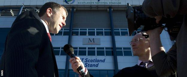 Stewart Regan speaks to BBC Scotland's Chris McLaughlin