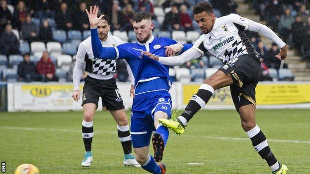 Nathan Austin scores for Inverness against Queens