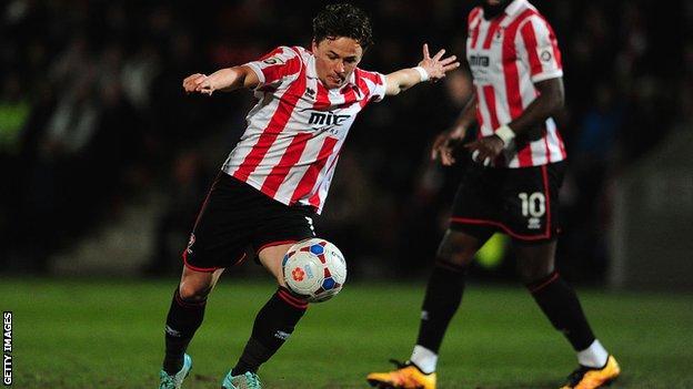 Cheltenham striker Dan Holman