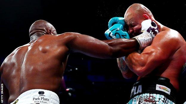 Chisora scored the 31st win of a 40-fight career with a second-round knockout