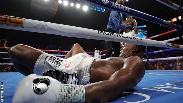 Luis Ortiz is knocked out by Deontay Wilder