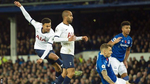 Dele Alli scores Tottenham's goal
