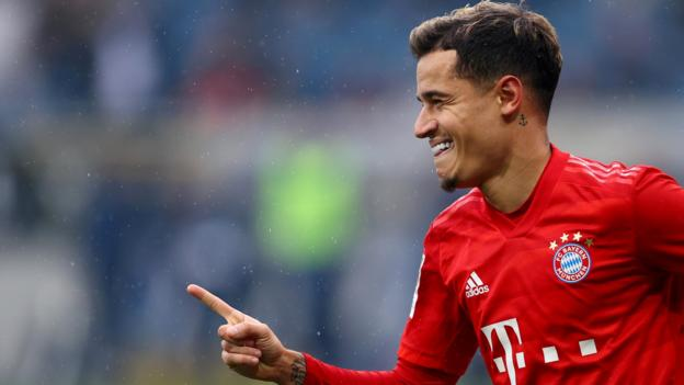 Transfer rumours: Coutinho, Willian, Ter Stegen, Rodriguez, Aurier, Watkins, Benrahma - bbc