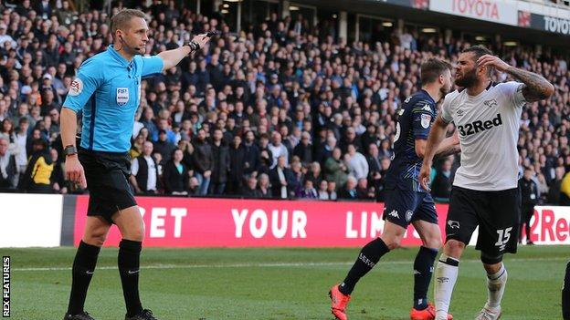 Craig Pawson rules out a Derby penalty