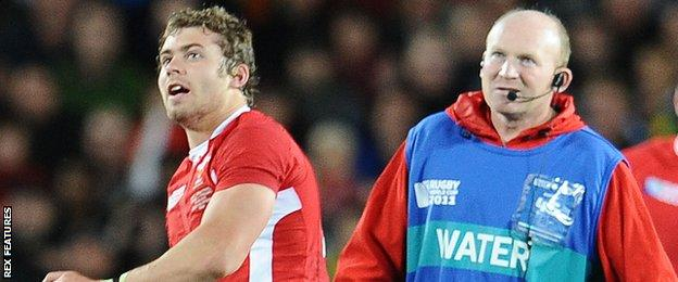 Leigh Halfpenny and Neil Jenkins