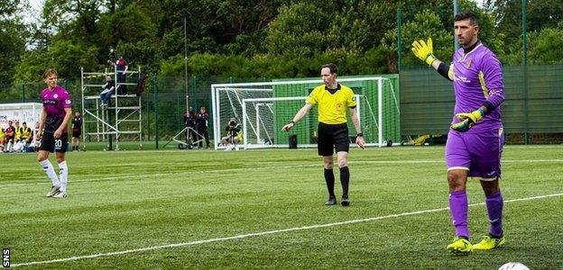 East Kilbride goalkeeper Alan Martin