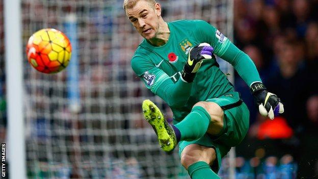 Manchester City goalkeeper Joe Hart