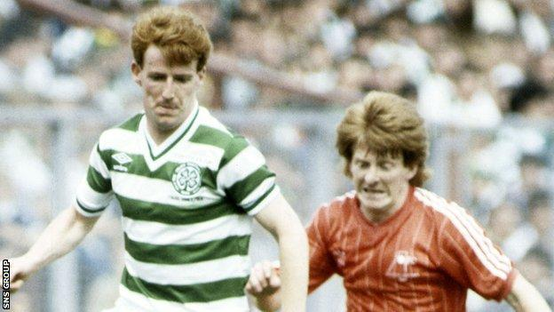 Tommy Burns and Gordon Strachan
