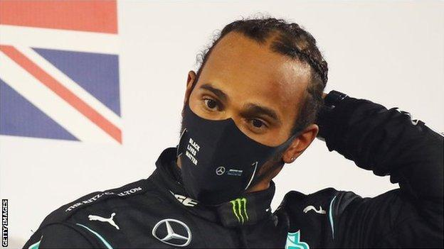 Lewis Hamilton recovering but 'in bed and not feeling great' with Covid, says Toto Wolff (2020)