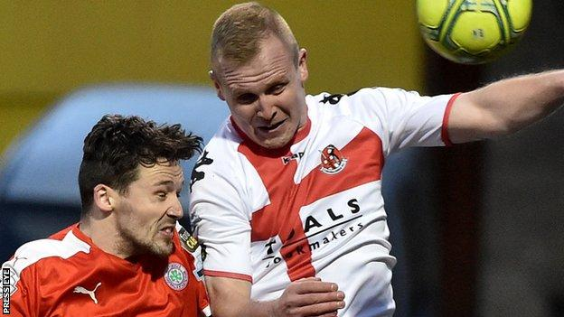Crusaders hope to have 16-goal striker Jordan Owens in their team against Cliftonville