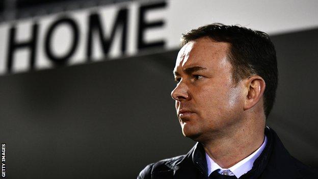 Plymouth manager Derek Adams
