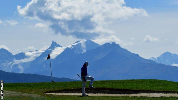 Crans-Montana 7th hole