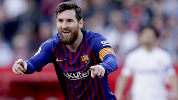 Sevilla 2-4 Barcelona: Lionel Messi scores 50th hat-trick in win thumbnail