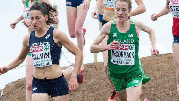 Fionnuala McCormack (right) in chasing a third victory on the the Greenmount course in Antrim