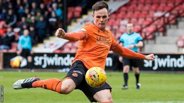 Dundee United striker Lawrence Shankland
