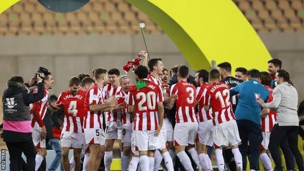 El Athletic de Bilbao celebra