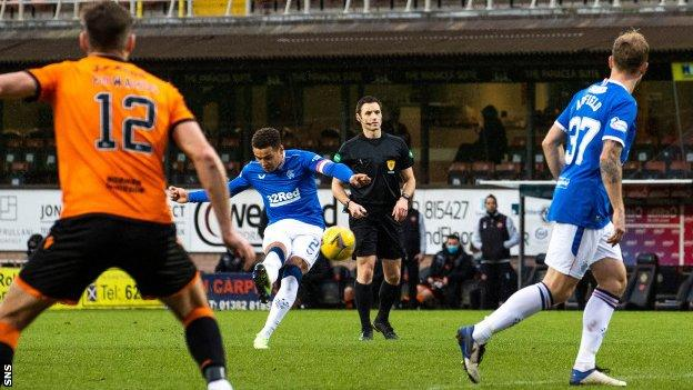 Dundee United 1-2 Rangers: Gerrard's side extend Premiership lead to 15  points - BBC Sport
