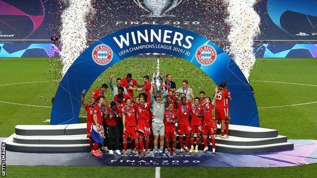 Bayern Munich celebrate Champions League win
