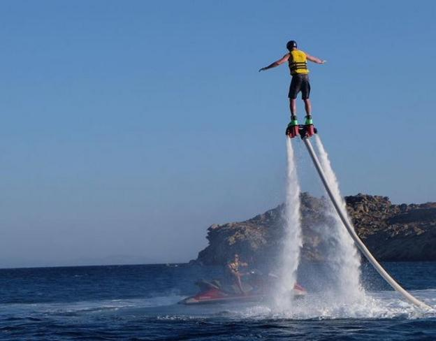 Eric Dier on a flyboard
