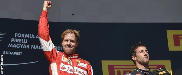 Sebastian Vettel and Daniel Ricciardo
