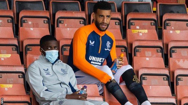 Rangers' Nnamdi Ofoborh and Connor Goldson