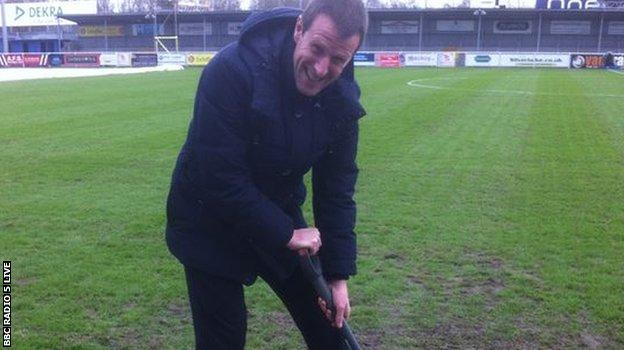 And there was one extra special superhero, in the form of Steve Claridge who swapped his microphone for a pitch fork. Every little helps.