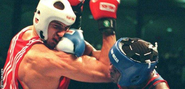 Wladimir Klitschko during the 1996 Atlanta Olympics
