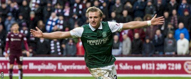 Jason Cummings' headed goal set up a dramatic fightback by Hibs