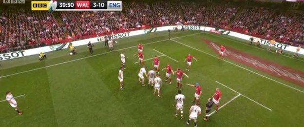 England's prime position at the end of the first half