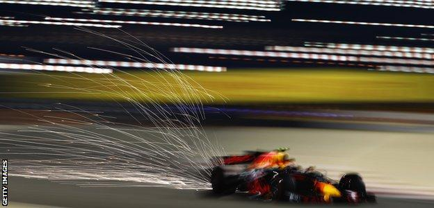 Max Verstappen during the Bahrain Grand Prix in 2017