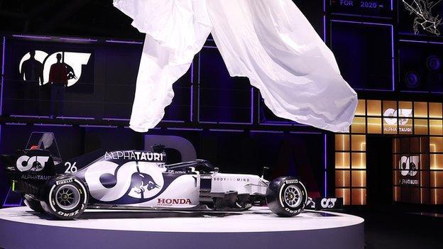 Scuderia AlphaTauri AT01 F1 car