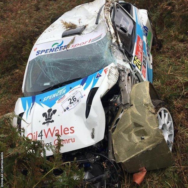 Rally Isle of Man crash: Jamie Jukes and Dave Williams