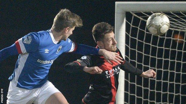 Linfield striker Cameron Stewart scored the opening goal